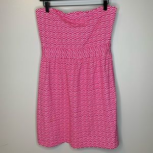Vineyard Vines Pink Whale Tail Strapless Dress